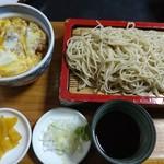 尾張屋 - ミニ丼セット(カツ丼)870円