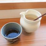 すみくら - 可愛い器でやってくる蕎麦湯。