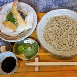 手打ち蕎麦 さくら - 天ざるそば(1200円)