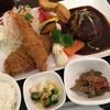 iijima常陸牛本舗 - 料理写真:「常陸牛入りハンバーグと海老フライとヒレカツ御膳」2150円(税込)