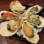 Oyster Bar ジャックポット - 焼き牡蠣 全種盛り