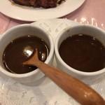 ル ビストロ - 骨を煮出して作ったソース