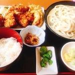 親孝行うどん - G・S定食(ガッツリ・スタミナらしいです)680円