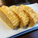 天ぷら きよし - たまたま定食の厚焼き卵