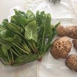 ちょいベジ - ほうれん草とどんこ椎茸