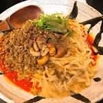 84146009 - 汁なし担担麺 すごくシビれる @850円。