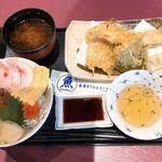 牧原鮮魚店 - 海鮮丼と天ぷらセット
