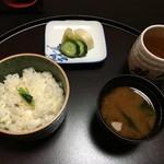 人丸花壇 - 鯛の炊き込みご飯