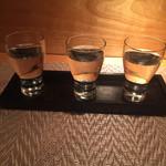 串カツ&ワインバル ゑしぇ蔵 - 日本酒飲み比べ2