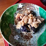 千人館 写楽 - 豚肉とナスの味噌
