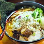麺処 秋もと - '18.04味玉味噌大盛+角チャー
