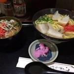 84155717 - 沖縄そばと三枚肉丼ハーフセット