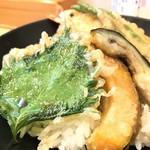 吾三路うどん - 料理写真:天丼 ドアップ