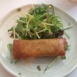 錦水 - 副菜の春巻き