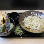 ゆで太郎 - ミニ海老天丼セット2018.04.07