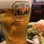 もつ焼き 肉の佐藤 - 生ビール(男気ジョッキ)