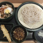 ゆで太郎 - 料理写真:朝そば(高菜チャーシュー)360円・海老天150円がクーポンで無料(2018.3.3)