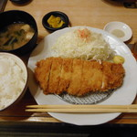 いちの家 - 極上ロースかつ定食¥2200-