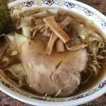 春木屋 郡山分店 - ワンタン麺の麺が見えない