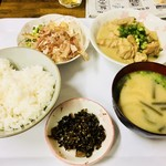 しんちゃん食堂 - ホルモン味噌煮込定食