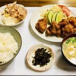 しんちゃん食堂 - 唐揚定食