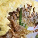 圓家  - ニンニクチャーハン+卵のせ