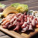 農家食堂かしわ - 料理写真:人気のBBQ食材