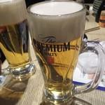 炉端 魚助 - 生ビール