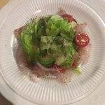 シェ・オノ - 料理写真:スズキのカルパッチョ(500円)
