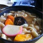 竹の子食堂 - ほうとう。ものすごく美味しい。特に人参。