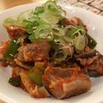 もつ焼き 肉の佐藤 - 料理写真:モツキムチ