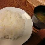 多津味 - ライス味噌汁