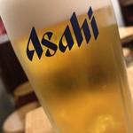もつ焼き 肉の佐藤 - 生ビール