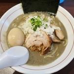 84183034 - 「濃厚煮干し蕎麦(800円)+味玉(100円)+のり(50円)」です