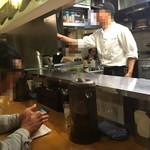 雲林坊 - カウンターと厨房