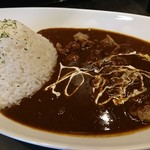 豚骨黒カレー MECHA - 料理写真:豚骨カレー大盛すじ肉トッピ♪