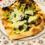 アクバル - ナンピザその2。抹茶&あんこ&チーズで作りました。あまじょっぱくてうまい。