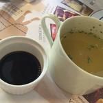 84187292 - セットのスープ(玉ねぎスープ)