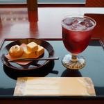 84189280 - 能登の里山サイダー&和菓子2品750円