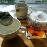 ベーカリーアンドテーブル箱根 - セーデルブレンドティー&トアルコトラジャコーヒー