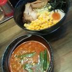 とみや ラーメン居酒屋 - 味噌つけ麺700円+コーン(食べログクーポン)