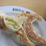 佐野青竹手打ちラーメン押山 - 野菜の甘みが判ります。