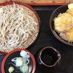 山都家 - ランチ(もりそば&ミニ天丼)