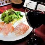 sync - 前菜と赤ワイン