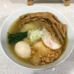 84196634 - 想いの塩らぁ麺 各種トッピング付(1,100円+400円) 2018.4