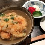 天ぷら岡本 - 天ぷら岡本(小海老のかき揚の天茶漬)