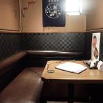 日本酒スローフード 方舟 - 店内の2人用の半個室
