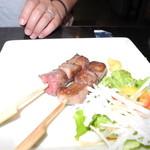shodaigyuutanakabee - 牛タン串焼き