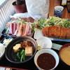 九絵 - 料理写真:富士桜ポークとんかつ定食刺身付き3000円
