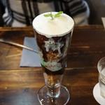 カフェ フクバコ - チョコミントパフェ